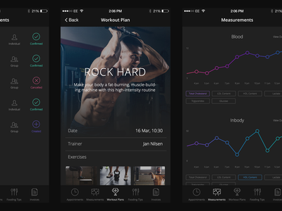 Fitness App by Kyril Ku